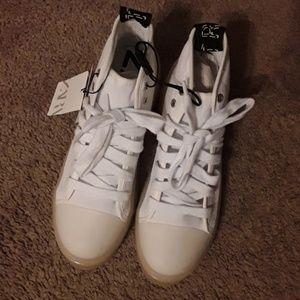 Zara white platform sneakers